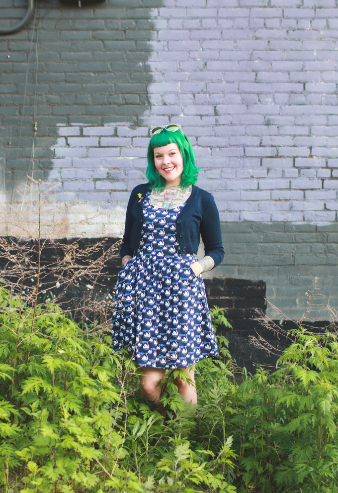green hair, cleveland fashion blog,