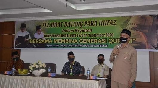 Gelar Camp Tahfiz Quran 1 Juz Selama 10 Hari, Wako Mahyeldi Apresiasi Yayasan Bina El Fata Sumbar