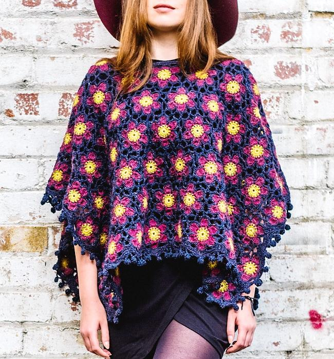 Crochet Poncho - Trellis Poncho