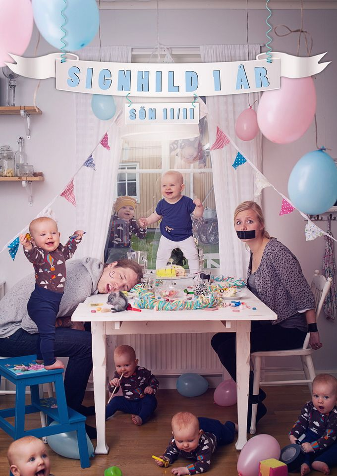 Foto divertida de bebés
