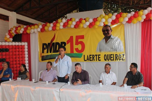 Laerte Queiroz PMDB Nova Mamoré lançamento oficial de sua candidatura a prefeito de Nova Mamoré