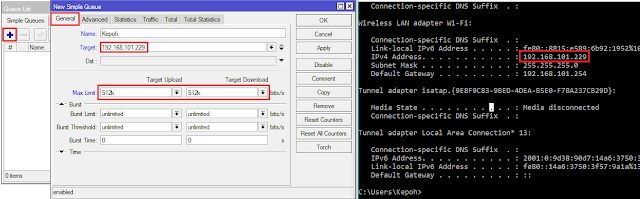 Cara Limit Bandwidth di Mikrotik dengan Simple Queues