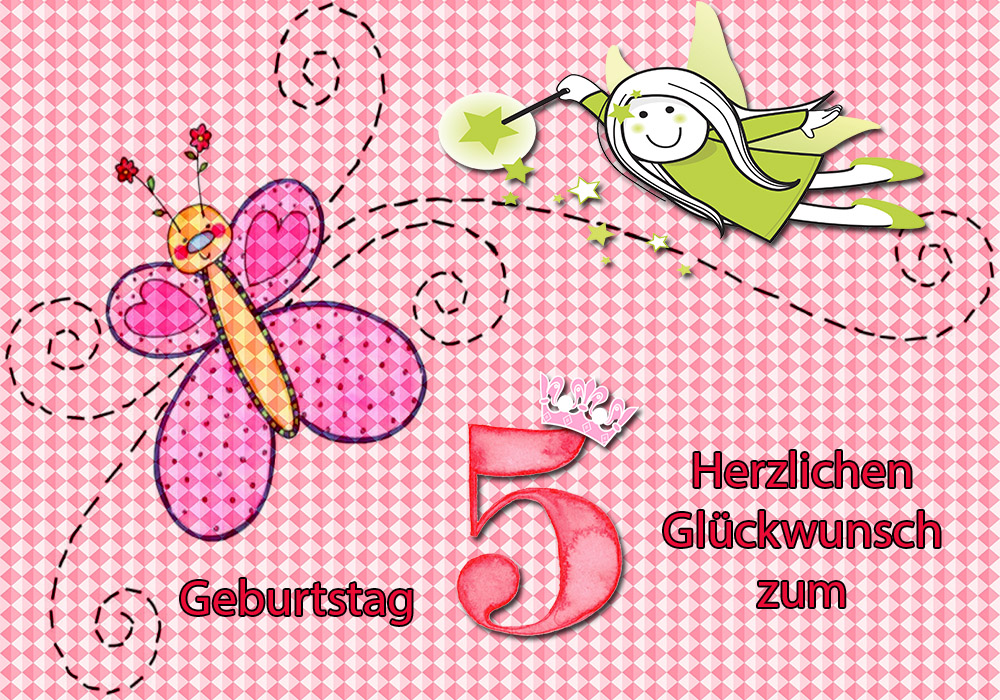 Alles Gute Zum Geburtstag Herzlichen Gluckwunsch Zum 5 Geburtstag