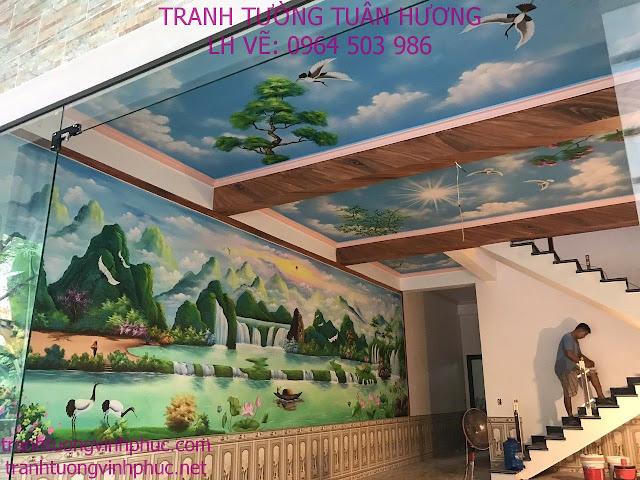 vẽ tranh tường tại thị trấn yên lạc vĩnh phúc2