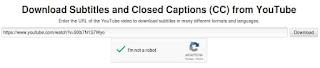 youtube subtitles download