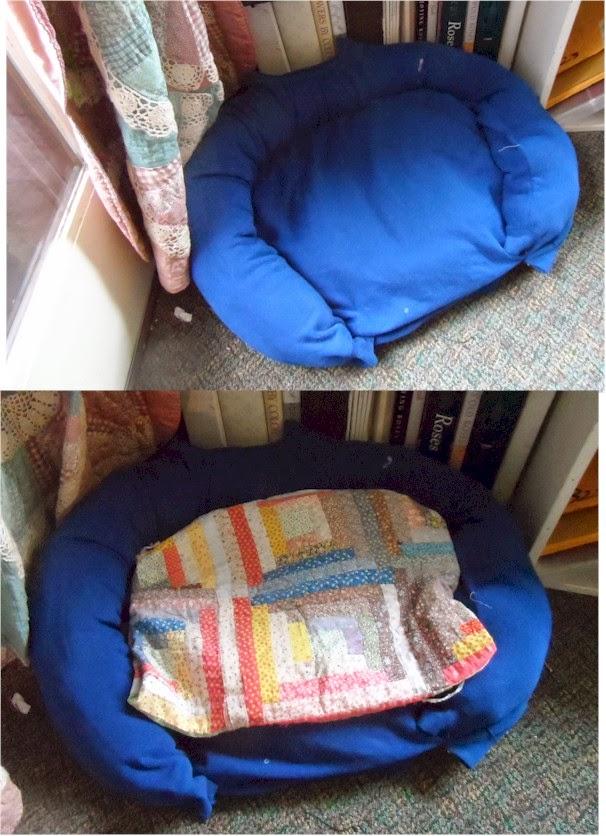 Olderrose Motif Cutouts And Sweatshirt Dog Bed