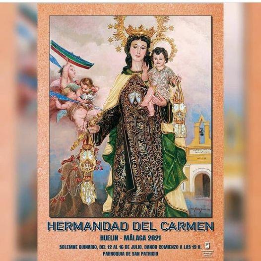 Cartel 2021 hHdad. Virgen del Carmen de Huelin (Málaga) 2021