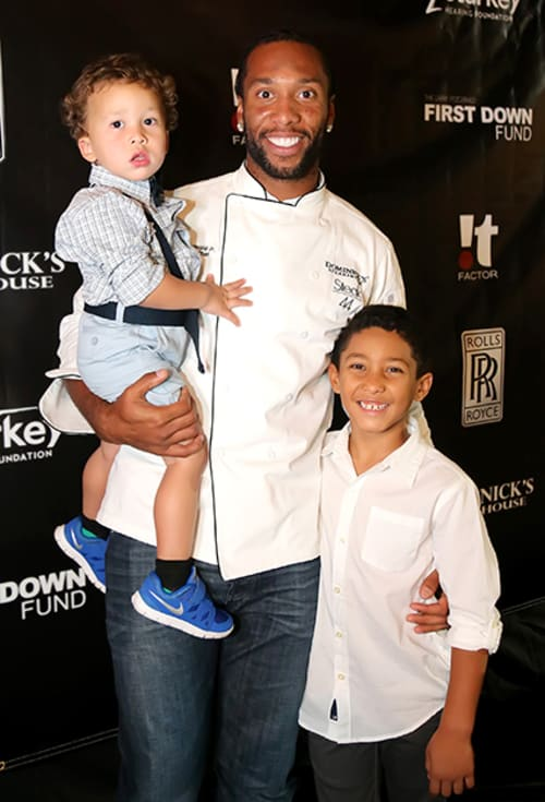 Larry Fitzgerald With Kids