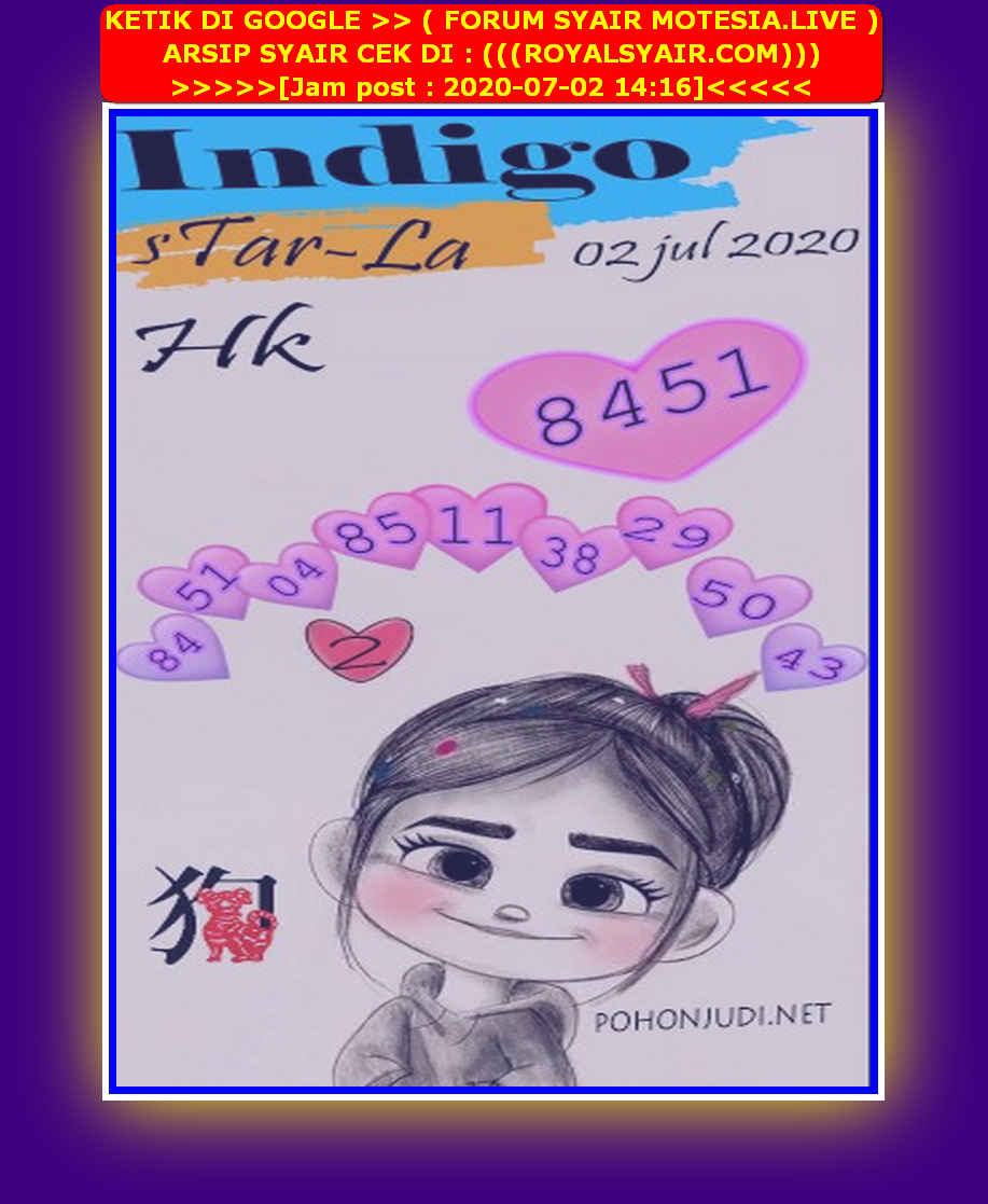 Kode syair Hongkong Kamis 2 Juli 2020 198