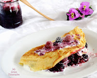 Omelette Sucrée - Tortilla dulce con yogurt y mermelada de moras con frambuesas