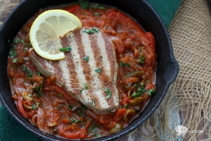 Tuna a la Veracruzana