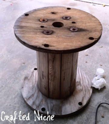 Beautiful Spool Table Diy. Cable Spool Rocking Chair Fabartdiy Cable Spool  JJ48