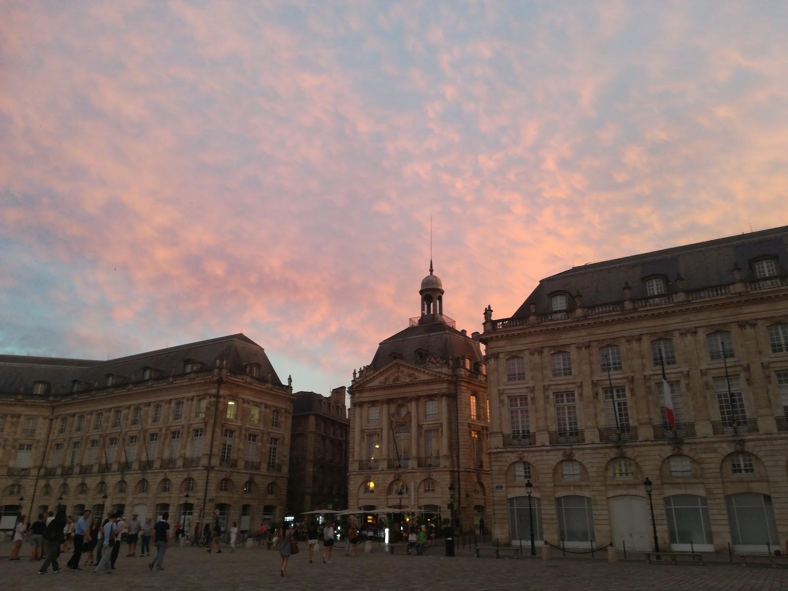 Bordeaux - widok na Place de la Bourse