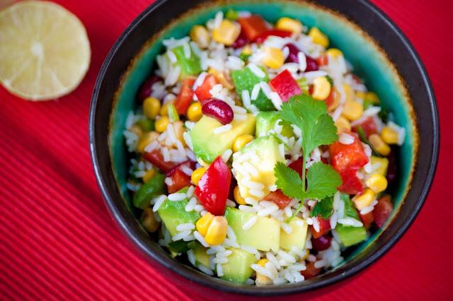 Meksykańska sałatka ryżowa