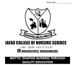Jafad College of Nursing Science Postutme
