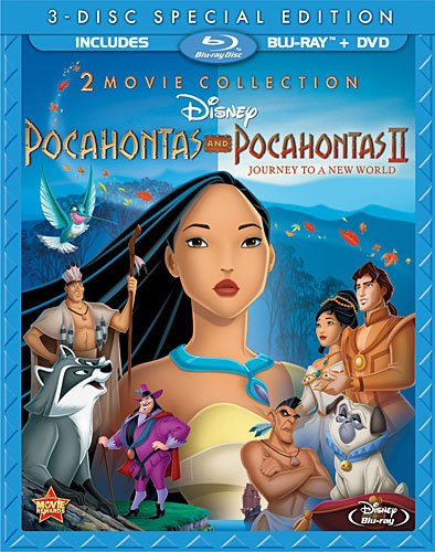 Blu ray package Pocahontas II: Journey to a New World 1998 animatedfilmreviews.filminspector.com