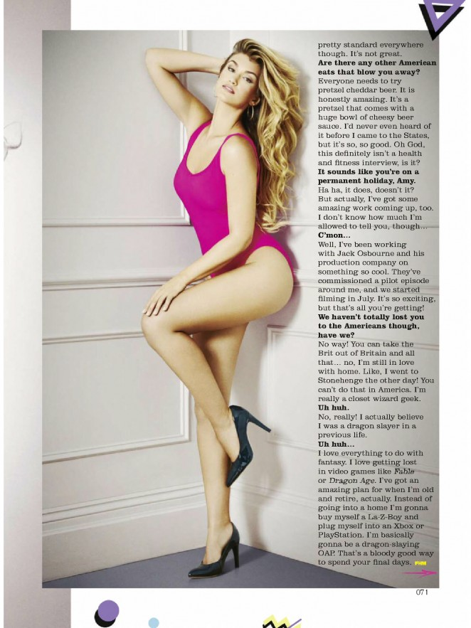 Amy Willerton poses for FHM UK Magazine (September 2015)