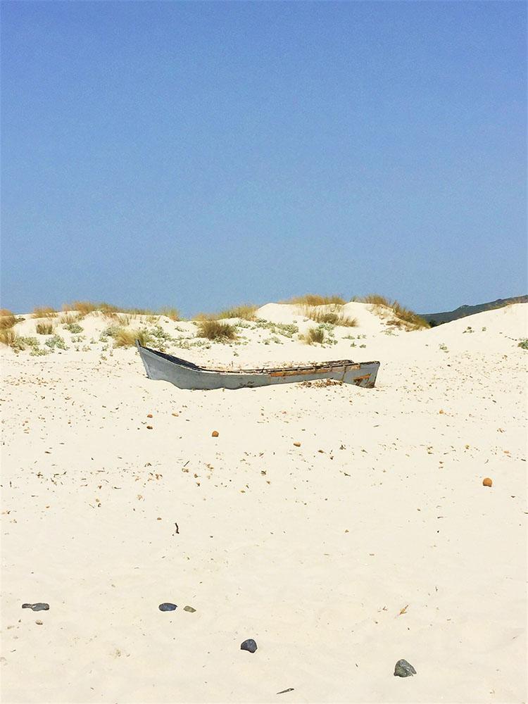 Dune bianche a Porto Pino