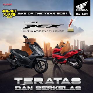 PCX160 Bike of the year 2021 otomotif awards