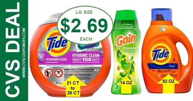 Gain & Tide Laundry Detergent CVS Deals