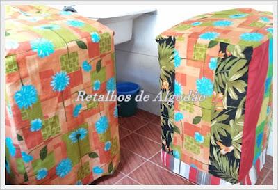 Capas para máquina de lavar feitas em tecido