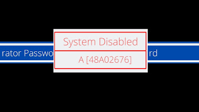 hp 8 digit letter system disable