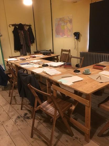 Desk in Bletchley Park hut