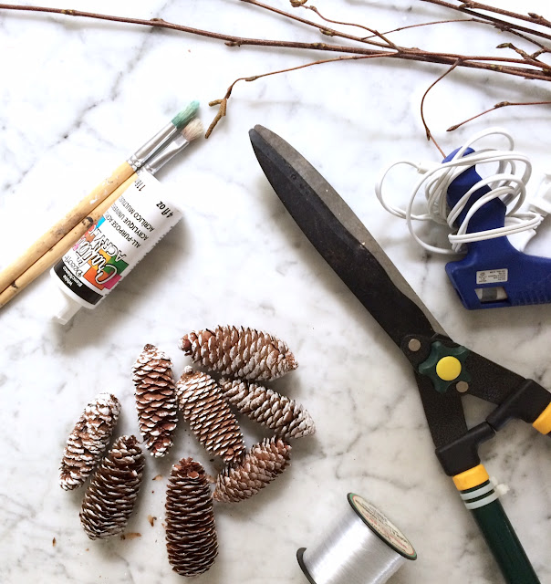 DIY Centerpiece Hanging Pinecone Harlow and Thistle 3