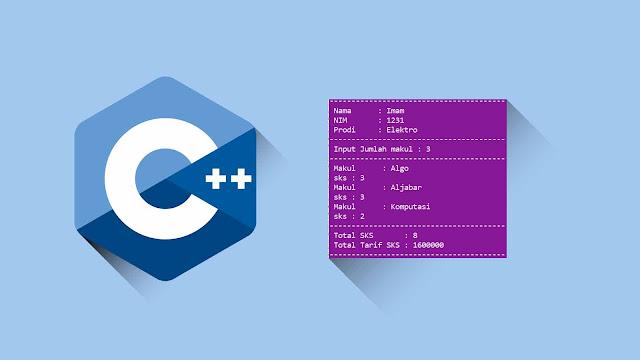 Contoh Program C++ Studi Kasus Perulangan for (sks dan Mata kuliah)