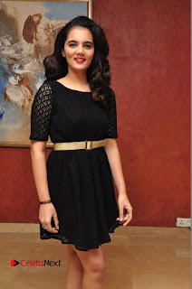Actress Praachina Pictures in Balck Short Dress at talabbayi Audio Launch  0014