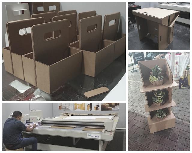 Línea Sostenible - Ecológica  de muebles de cartón elaborado por macroprint