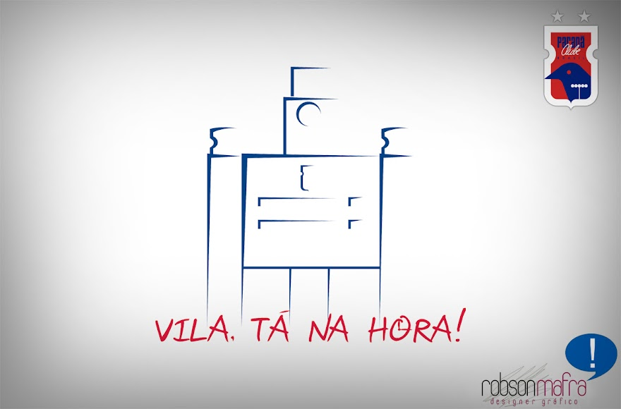 Logo da campanha Vila, tá na hora!