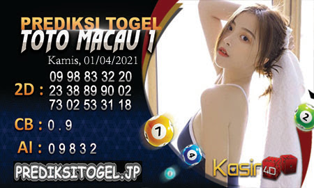 Prediksi Kasir4D Togel Macau Kamis 01 April 2021