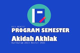 Prosem Akidah Akhlak MA Kurikulum 2013 Revisi