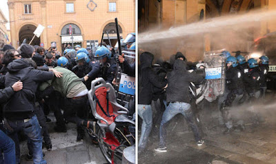 Far-right parties and antifascist clash in italy