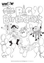 Birthday Party Coloring Pages Printables