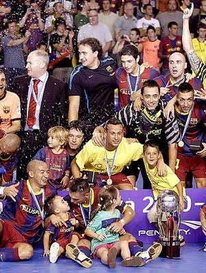 72d2daf965 Barcelona é campeão espanhol também no futsal (Foto  EFE) Atual campeão  espanhol e da Liga dos Campeões