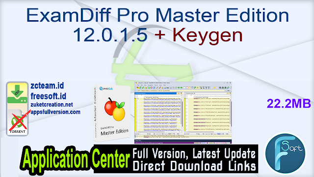 ExamDiff Pro Master Edition 12.0.1.5 + Keygen_ ZcTeam.id