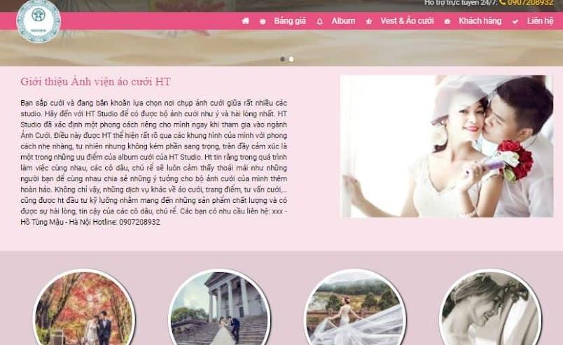 Giao diện blog dịch vụ cưới hỏi chụp hình