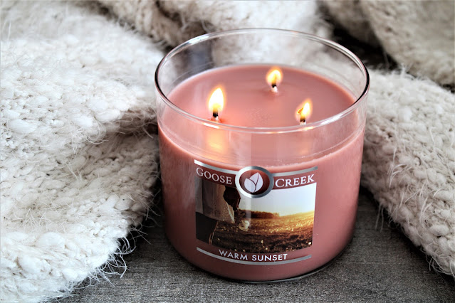 goose creek warm sunset 3 mèches avis, goose creek warm sunset, warm sunset candle, warm sunset, candle influencer, bougie parfumée goose creek, goose creek candle review, bougies, bougies américaines, warm sunset goose creek avis