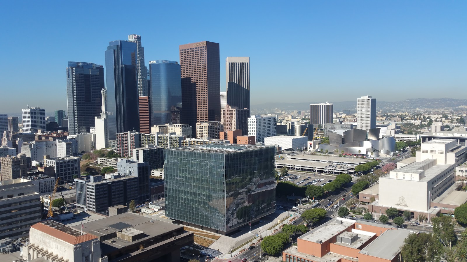 Several large skyscrapers from Los Angeles