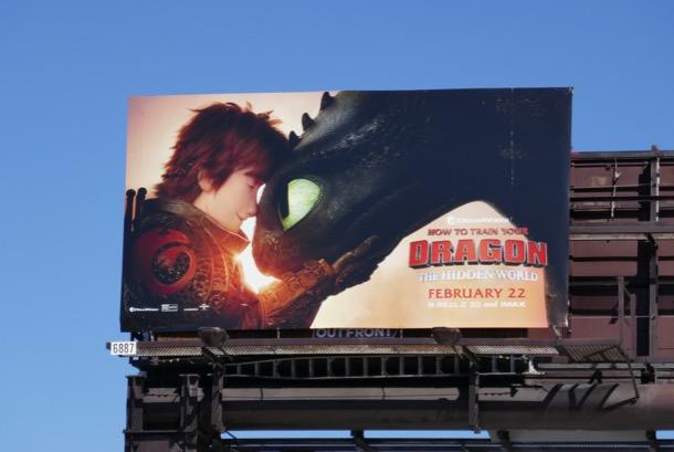How to Train Your Dragon Hidden World billboard