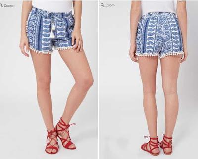 Short azul para mujer en oferta