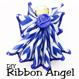Craft a beautiful DIY ribbon angel in just a few minutes with items already in your craft room.  You'll love giving this angel to friends or using as a beautiful party decoration or party favor.