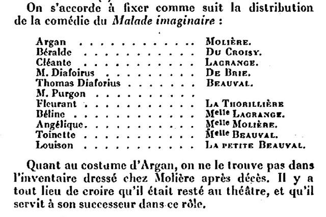Henry Lyonnet, la première du Malade imaginaire