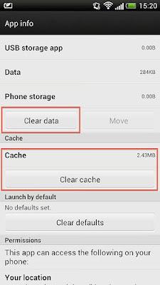 مسح ذاكرة التخزين المؤقتة في جوجل بلاي
