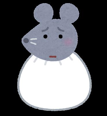 袋のネズミのイラスト