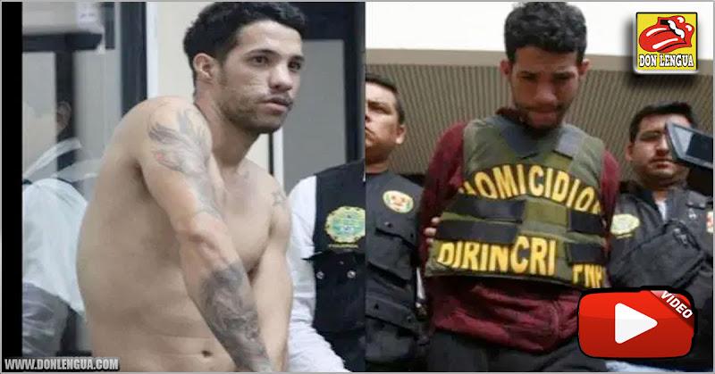 Descuartizador venezolano en Perú mostrando al juez el significado de sus tatuajes