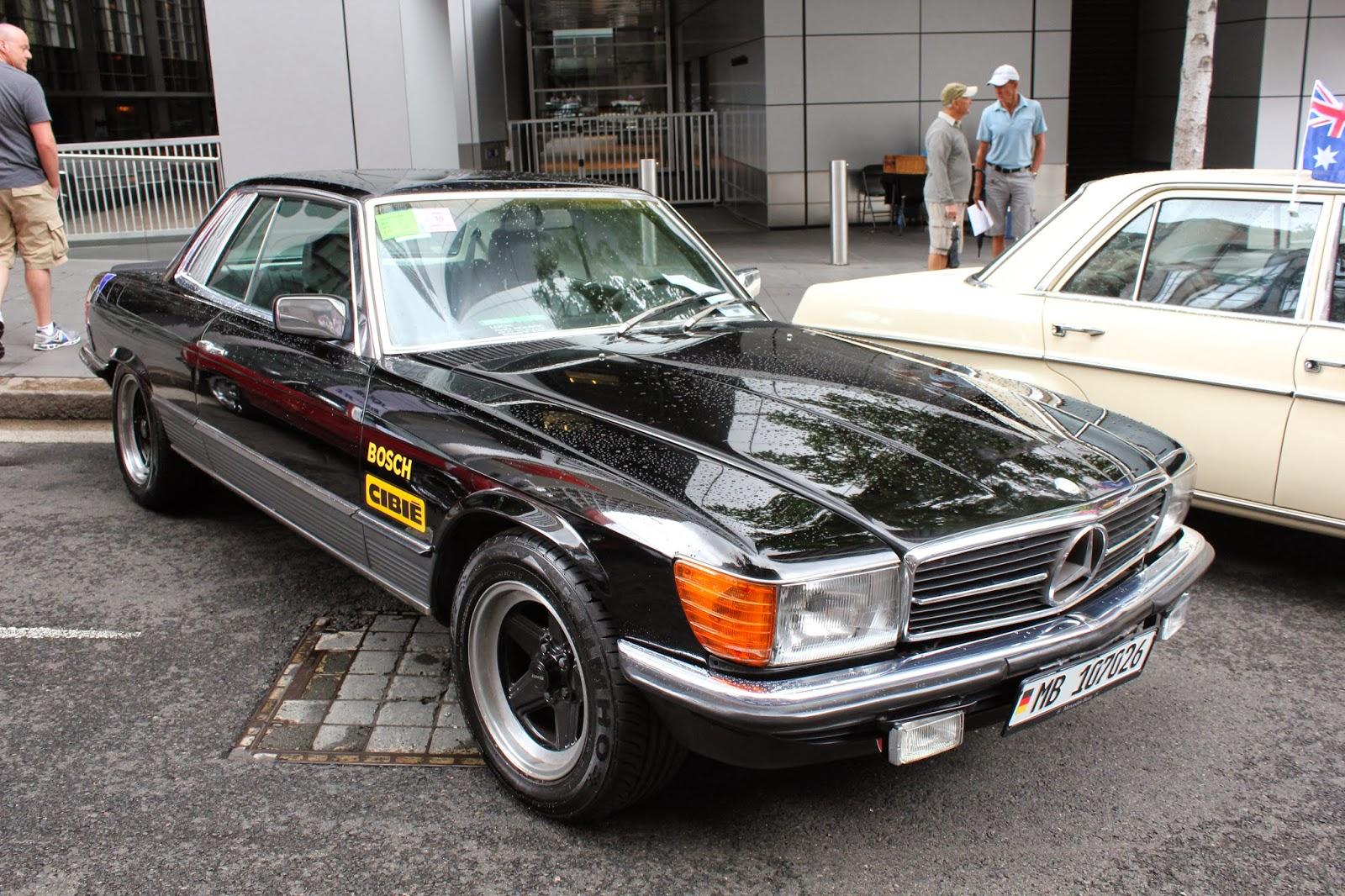 aussie old parked cars 1981 mercedes benz c107 500 slc. Black Bedroom Furniture Sets. Home Design Ideas