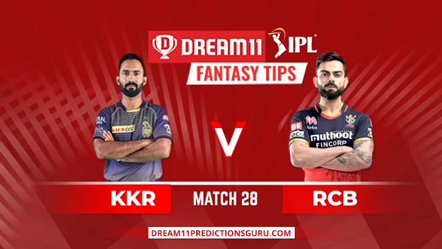 RCB vs KKR Dream11 Expert Tips and Predictions for Today's IPL Match by Dream11 Guru
